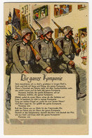 WK II.,Liederkarte, Die Ganze Kompanie - Guerra 1939-45