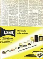 (pagine-pages)PUBBLICITA' LESA  Tempo1959/43. - Libri, Riviste, Fumetti