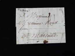 LETTRE DE PARIS POUR MARSEILLE  -  1778  - - Marcophilie (Lettres)