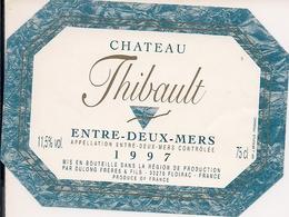 ENTRE-DEUX-MERES CHATEAU  THIBAULT 1997 (4) - Bordeaux