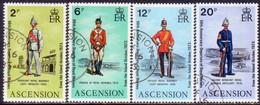 ASCENSION 1973 SG #174-77 Compl.set Used Departure Of Royal Marines - Ascension