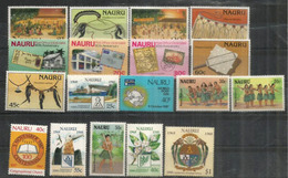 Années 1987-1988.  18 Timbres Neufs **  Côte 37,00 Euro - Nauru