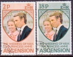 ASCENSION 1973 SG #178-79 Compl.set Used Royal Wedding - Ascension