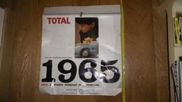 Grand Calendrier 1965 TOTAL Louis Poignet à Montfermeil - Voitures à Pédales Cadeaux Total - Calendriers