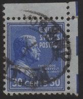 1938 US, 30c Stamp, Used, Theodore Roosevelt, Sc 830 - United States