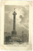 75 CPA Paris Gravure Eau Forte Colonne De Juillet Bastille  Pinet Graveur N°28 - France
