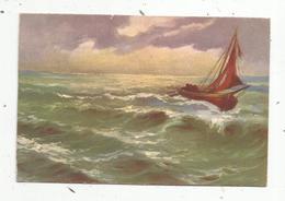 Cp , Bateau ,barque De Pêche ,illustrateur ,ed Dell'Anna & Gasparini, Vierge - Pêche