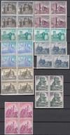 SPANIEN 1624-1637, 4erBlock + 2erStreifen , Postfrisch **, Burgen 1966 - 1961-70 Unused Stamps