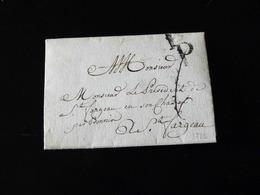 LETTRE DE PARIS POUR ST FARGEAU   -  1772  - - Marcophilie (Lettres)