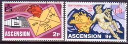 ASCENSION 1974 SG #180-81 Compl.set Used UPU Centenary - Ascension