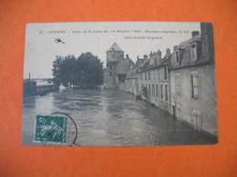 CPA    Nevers Crue De La Loire Du 19 Octobre 1907  Quai Amiral Jacquinot - Nevers