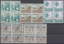 SPANIEN 1616-1620, 4erBlock , Postfrisch **, Sehenswürdigkeiten 1966 - 1961-70 Unused Stamps