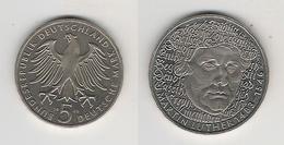 BRD  5 DM 1983 G M. Luther Bfr - [ 7] 1949-… : RFA - Rép. Féd. D'Allemagne