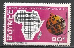 Guinea 1972. Scott #607 (U) Map Of Africa, Telstar Satellite * - Guinée (1958-...)