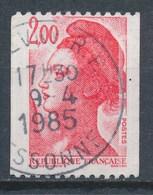France - Liberté 2,00 Rouge (roulette) YT 2277 Obl. - 1982-90 Liberté De Gandon
