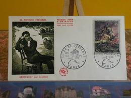 Géricault, Salon De L'enfance, L'officier Chasseur à Cheval (75) Paris - 9.11.1962 FDC 1er Jour - Coté 20€ - 1960-1969