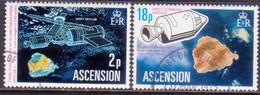 ASCENSION 1975 SG #185-86 Compl.set Used Space Satellites - Ascension
