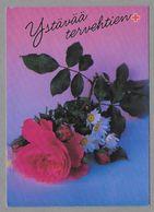 Postal Stationery Red Cross Finland (SPR 21) - Red Rose (Valentine's Day) - Used - Finlande