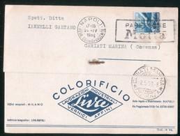 CARTOLINA COMMERCIALE - NAPOLI - 1950 - COLORIFICIO LIVA - Shops