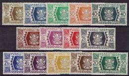 "Wallis And Futuna, Definitives, ""London Set"", 1944, MNH VF  Nice Series Of 14 - Wallis And Futuna"