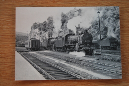 1516/ SNCB-TROIS-PONTS-Deux Loco Type 64 -14/07/1957 - Stations With Trains