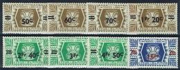 "Wallis And Futuna, Definitives, ""London Set"" Overprint, 1945, MNH VF  Nice Series Of 8 - Wallis And Futuna"