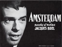 PARTITION JACQUES BREL - AMSTERDAM - 1965 - TB ETAT - - Autres
