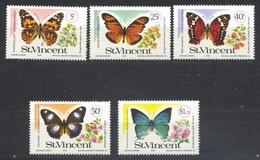 Saint-Vincent, Yvert 506/510, Scott 523/527, MNH - St.Vincent (...-1979)