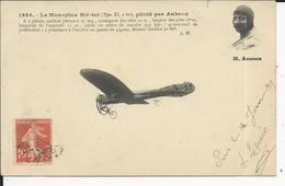 Monoplan Blériot  Piloté Par AUBRUN - Aviateurs