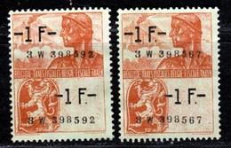 Belgique - Timbres Fiscaux 1 Frs Neuf Sans Gomme Fond Vert - Stamps