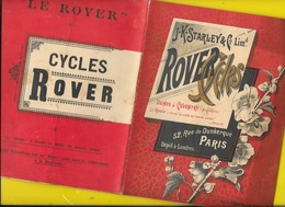 """Catalogue 1894 Cycles """"ROVER"""" Starley Coventry 16 Pages + Couverture Format 20 X 16 Cm Env.. - Cyclisme"""