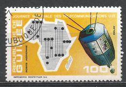 Guinea 1972. Scott #C120 (U) Map Of Africa, Relay Satellite * - Guinée (1958-...)