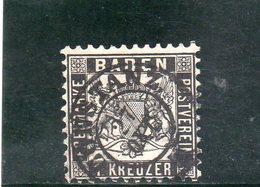 BADEN 1862-4 O - Bade