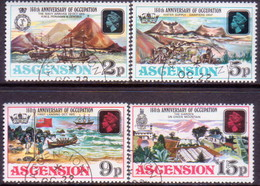 1975 ASCENSION SG #195-98 Compl.set Used 160th Anniv Of Occupation - Ascension