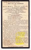 DP Oorlogsslachtoffer WO I 14-18 Michel Spitaels / Van Engelandt ° Lo Reninge 1894 † Elverdinge Ieper 1921 X M. Verbeke - Images Religieuses