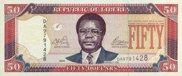 Liberia 50 Dollars, P-29a (2003) - UNC - Liberia