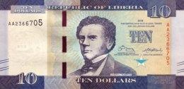 Liberia 10 Dollars, P-32 (2016) - UNC - Liberia