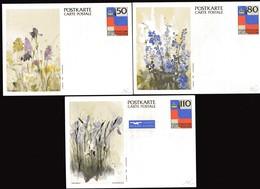 LIECHTENSTEIN Entier Postal FLEURS 50 80 Et 110 - Liechtenstein