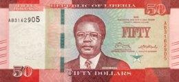 Liberia 50 Dollars, P-34 (2016) - UNC - Liberia
