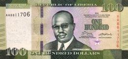 Liberia 100 Dollars, P-35 (2016) - UNC - Liberia
