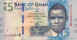 Ghana 5 Cedis, P-43 (4.3.2017) - UNC - 60 Years Bank Of Ghana - Ghana