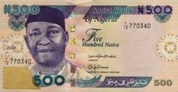 Nigeria 500 Naira, P-30o (2016) - UNC - Nigeria
