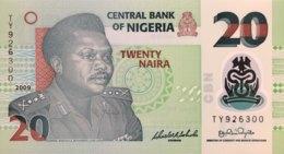 Nigeria 20 Naira, P-34e (2009) - UNC - Nigeria