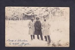 Carte Photo Militaires Camp D' Elsenborn Butgenbach ( Hiver Neige ) - Butgenbach - Buetgenbach