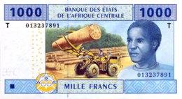 Central African States 1.000 Francs, P-107T (2002) - UNC - CONGO - Zentralafrikanische Staaten