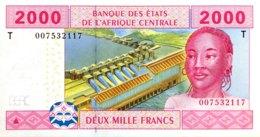 Central African States 2.000 Francs, P-108T (2002) - UNC - CONGO - États D'Afrique Centrale