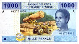 Central African States 1.000 Francs, P-407A (2002) - UNC - GABON - Zentralafrikanische Staaten