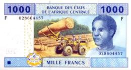 Central African States 1.000 Francs, P-507F (2002) - UNC - EQUATORIAL GUINEA - États D'Afrique Centrale