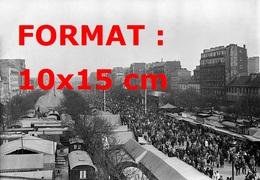 Reproduction D'une Photographie Ancienne D'une Vue D'ensemble De La Foire Du Trône à Paris En 1929 - Reproductions