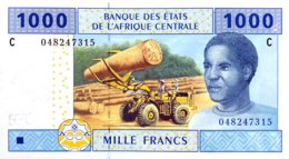 Central African States 1.000 Francs, P-607C (2002) - UNC - CHAD - Zentralafrikanische Staaten